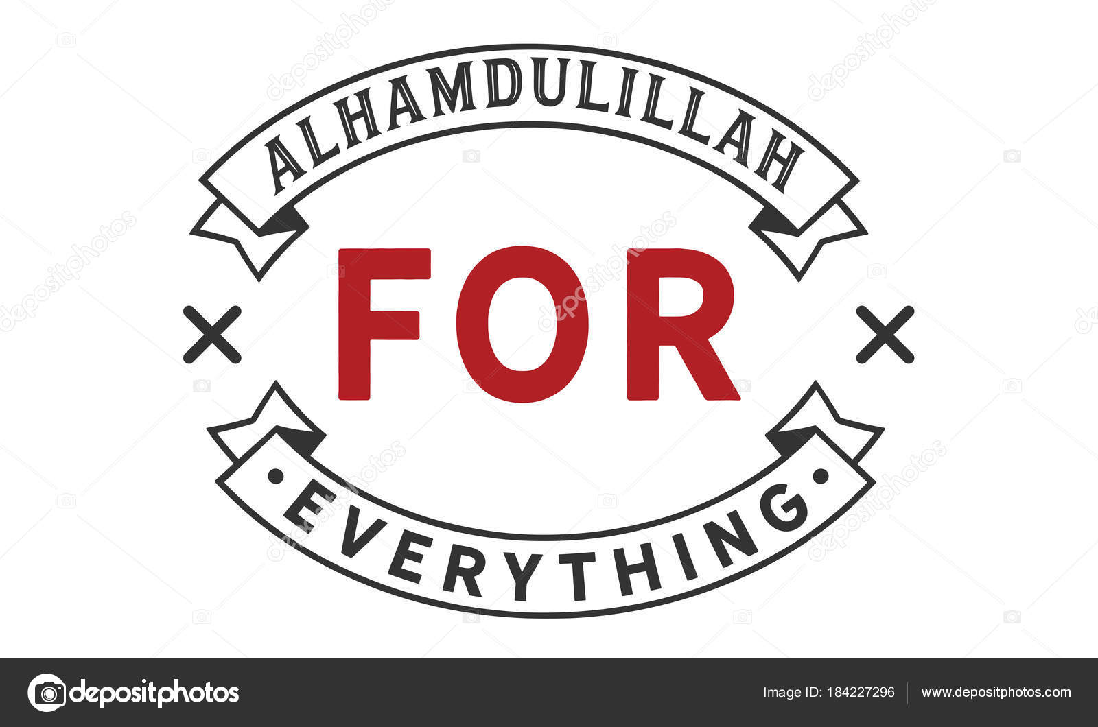 Alhamdulillah everything logo quote vector stock vector alhamdulillah for everything logo quote vector vector by uguhime buycottarizona Image collections
