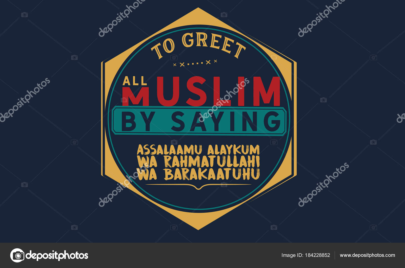 Greet all muslim saying assalaamu alaykum rahmatullahi barakaatuhu greet all muslim saying assalaamu alaykum rahmatullahi barakaatuhu stock vector m4hsunfo