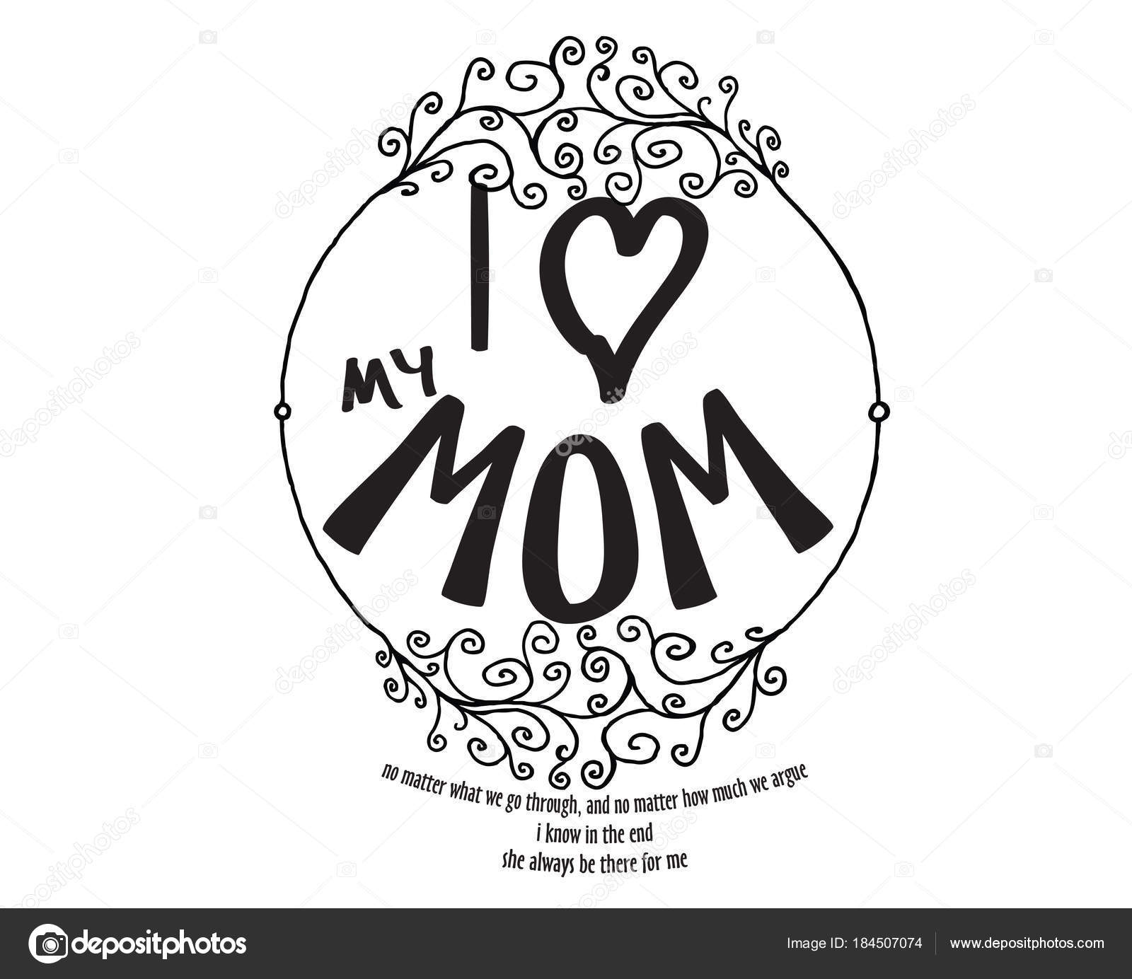 Chère Maman Aime Peu Importe Que Nous Traversons Importe