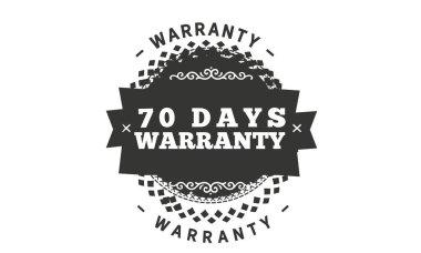 70 days warranty icon vintage rubber stamp guarantee