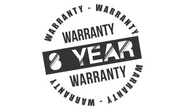 8 years warranty icon vintage rubber stamp guarantee