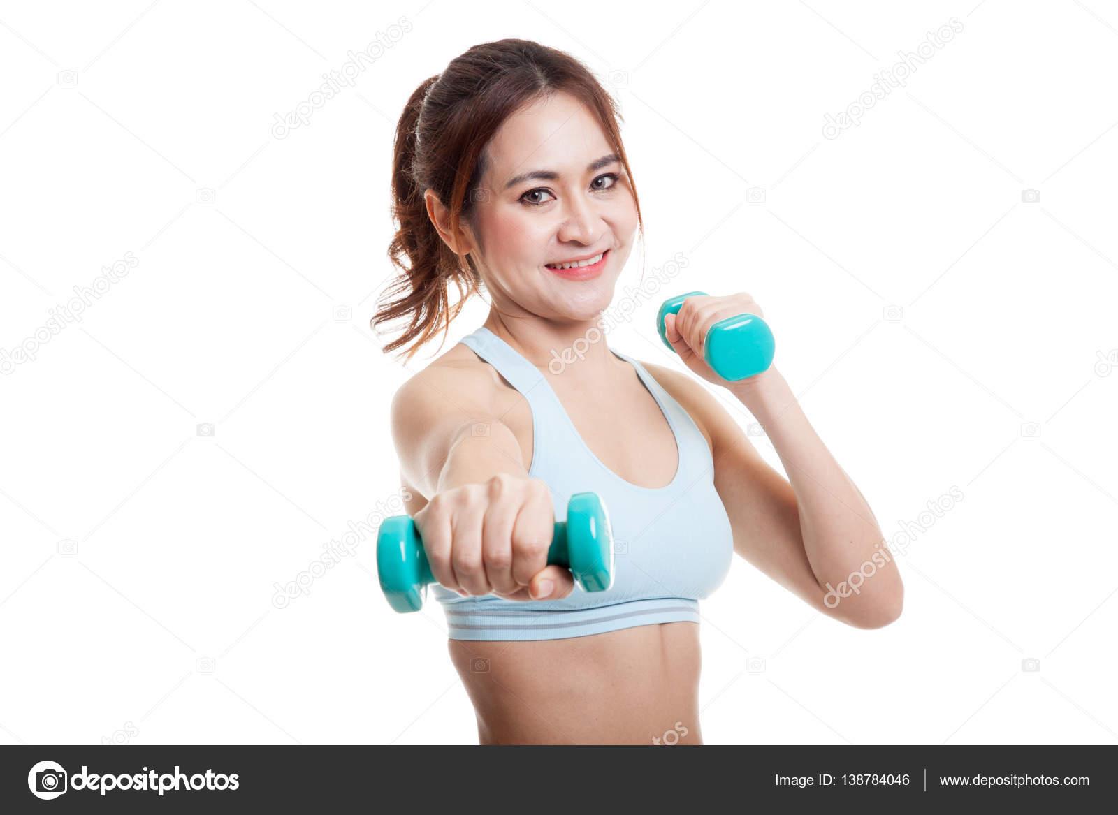 Гантели для девушки для домашних упражнений