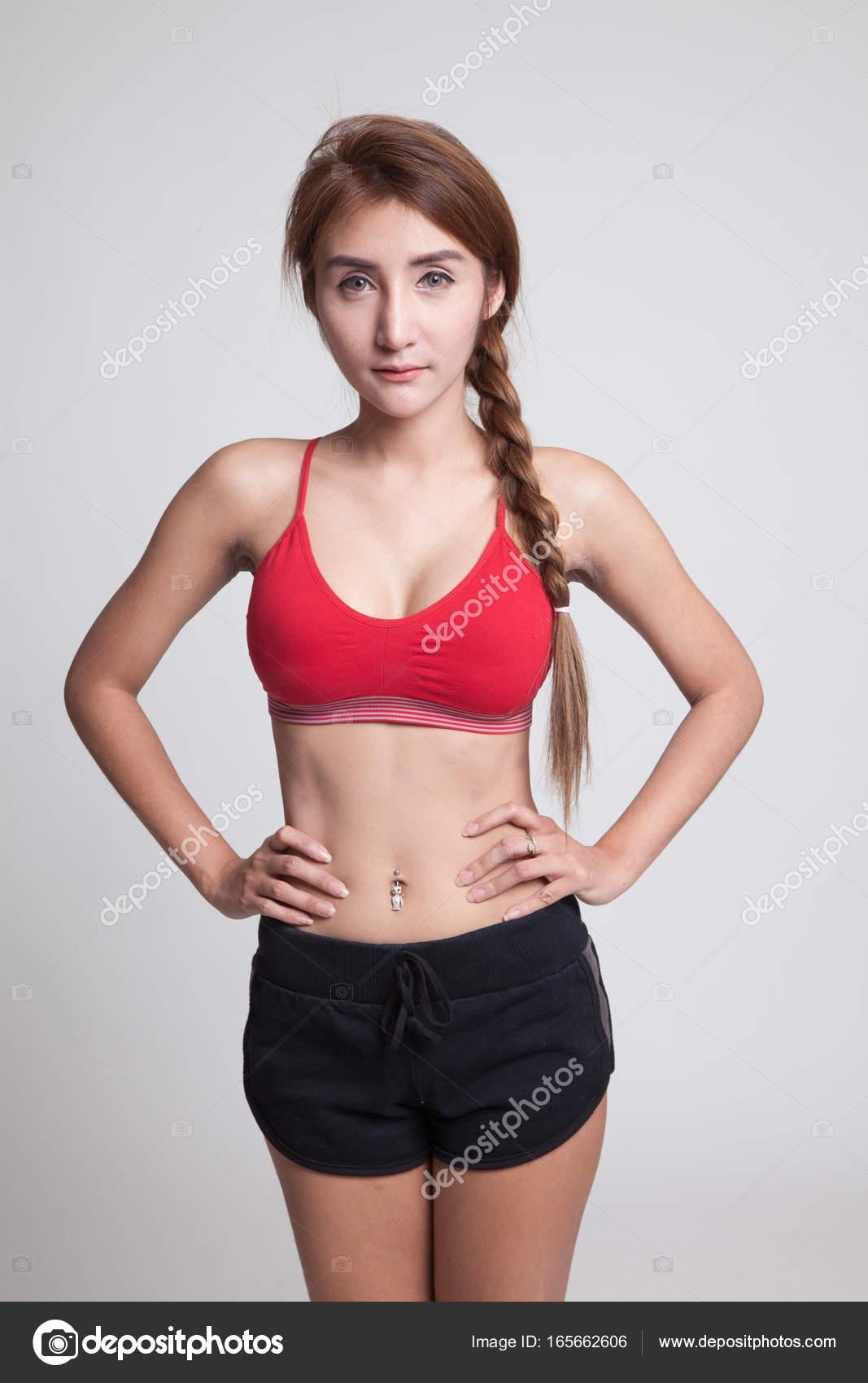 sports shoes 6e0bd 0b477 Abiti da ragazza sana forte asiatica nello sport.. — Foto ...