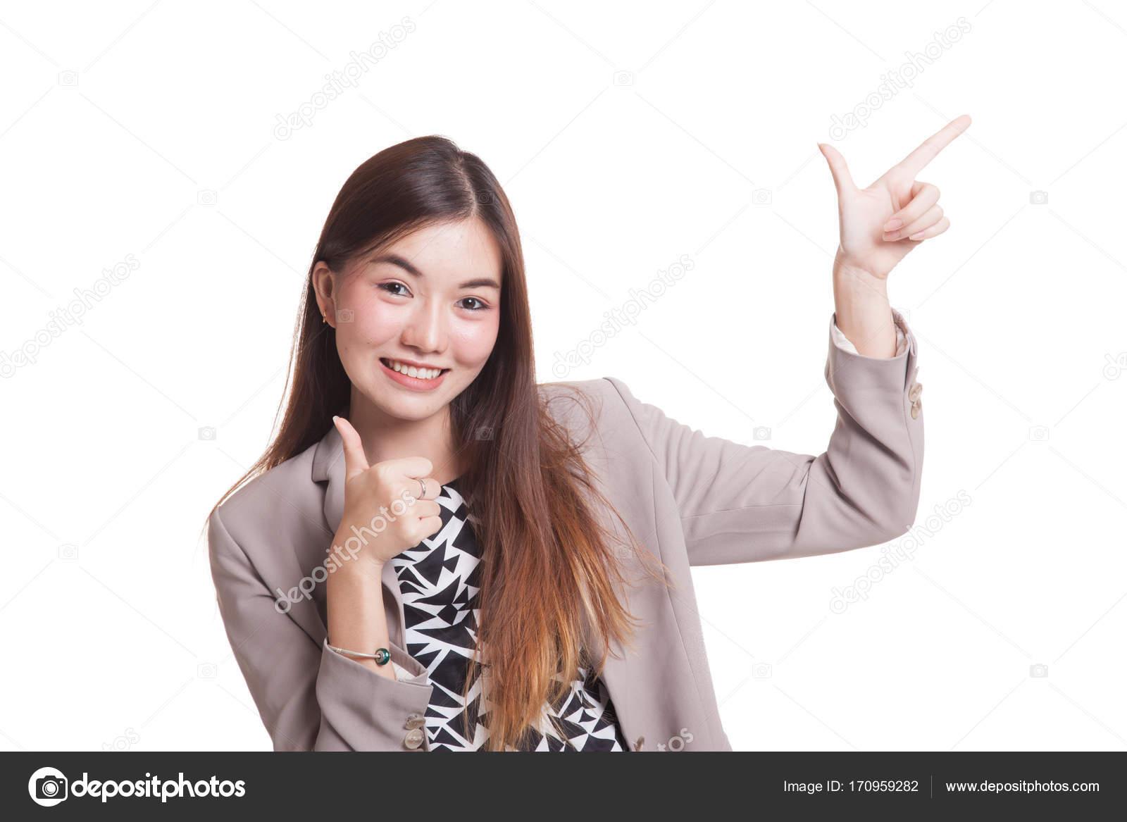 Asian girl thumbs