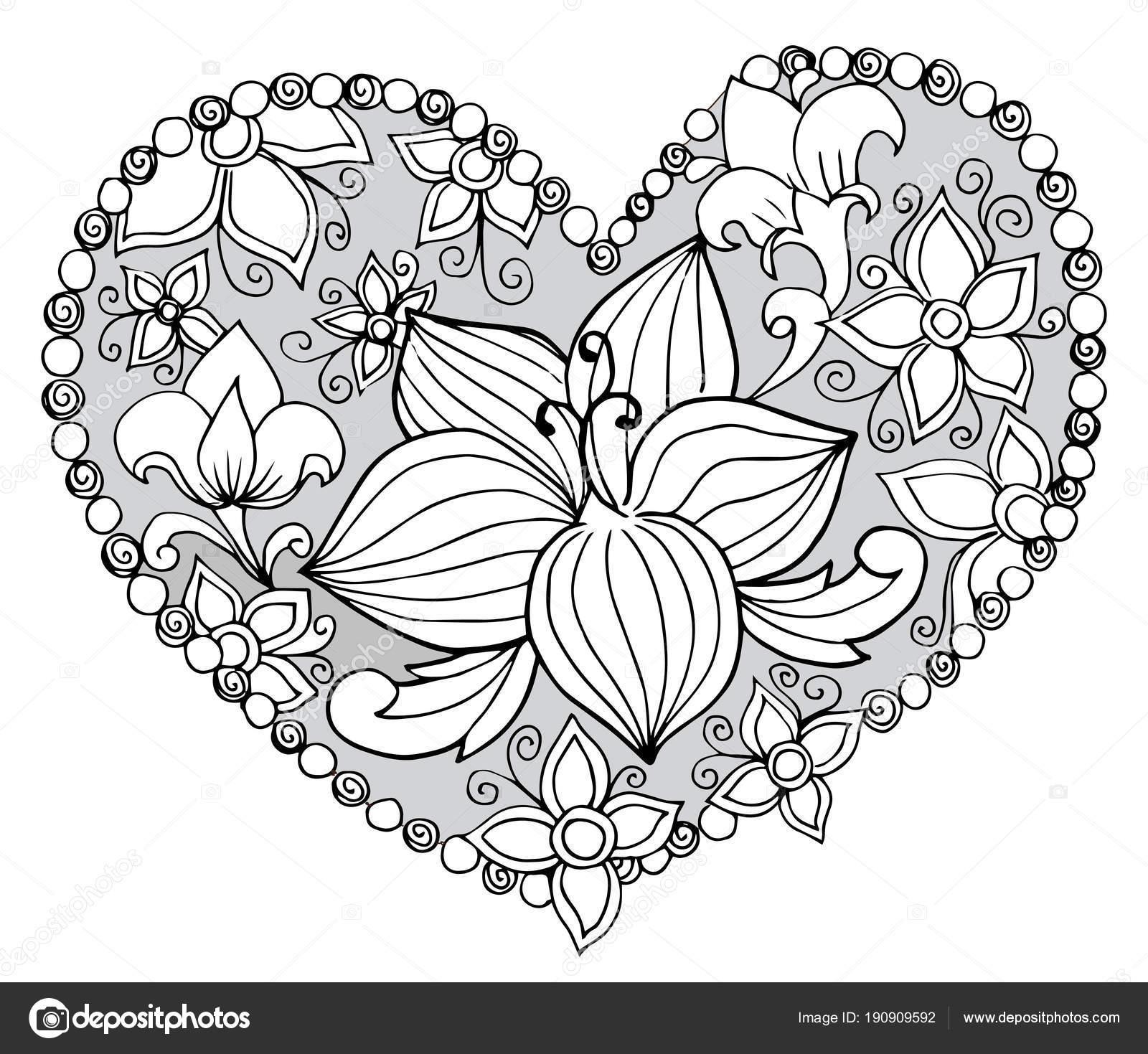 Dekoratif çiçek Boyama Stok Vektör Snowkat 190909592