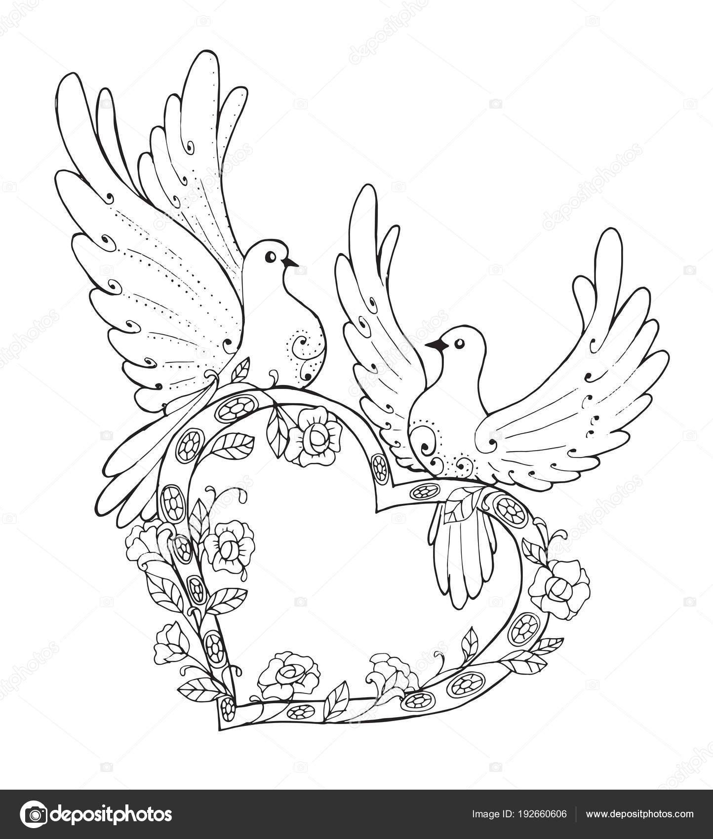 Kaç Aşk Güvercinler Içinde Stok Vektör Snowkat 192660606