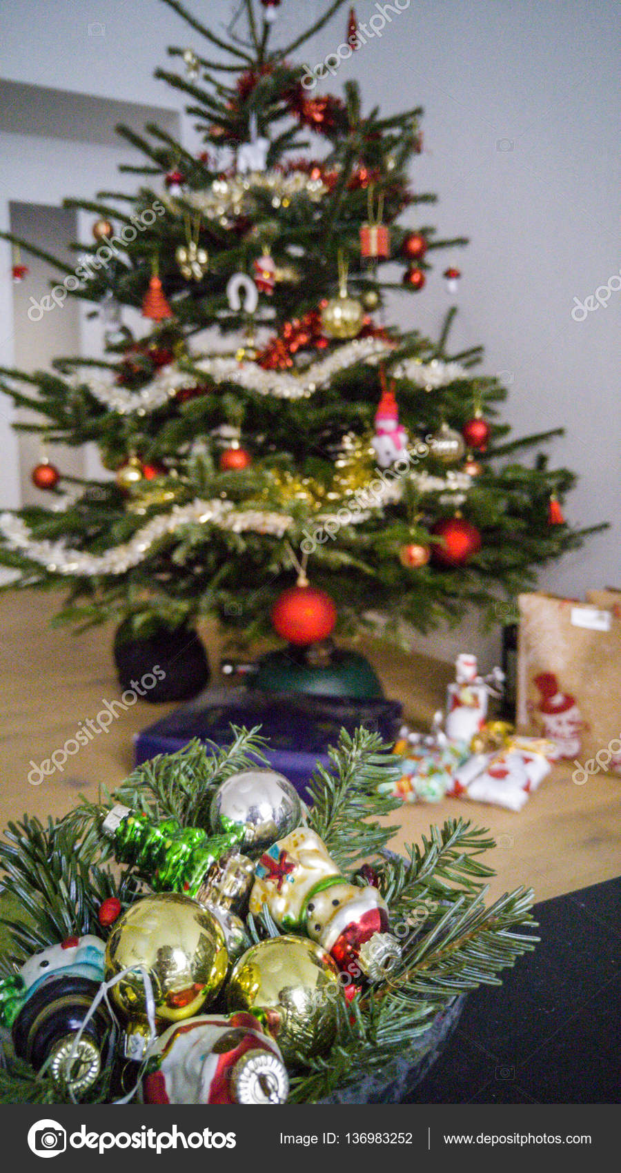 Mini Christmas decorations and toys — Stock Photo