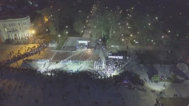 Fireworks in Plovdiv, Bulgaria captured with a drone