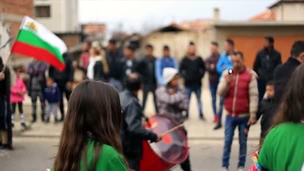 Kukeri - masquerade festival in Rakovski, Bulgaria