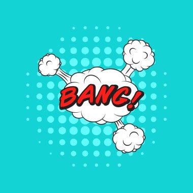 Comics style vector sticker BANG!