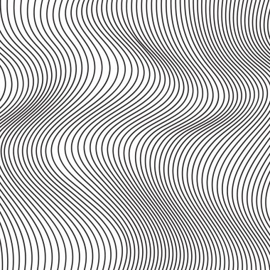 Black and white abstract waves vector background