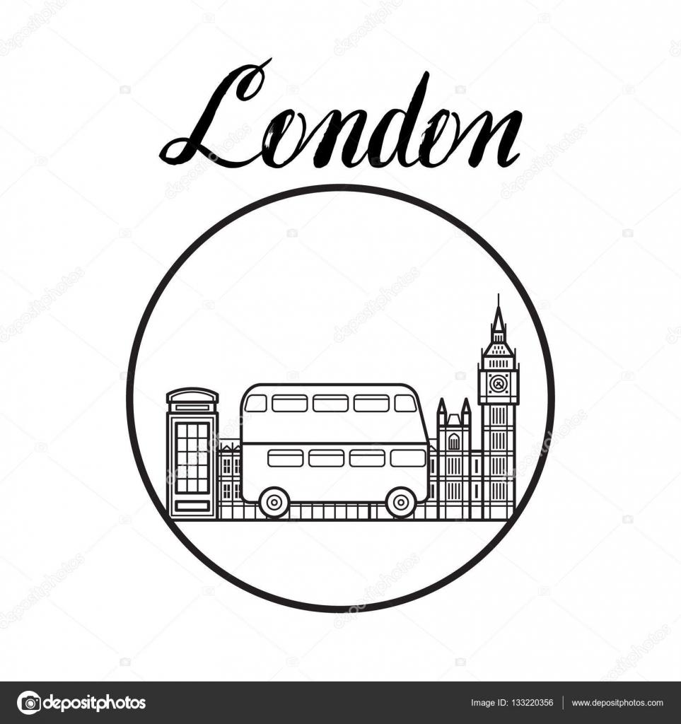 London City Linie Kunst Sightseeing Abbildung mit moderner ...
