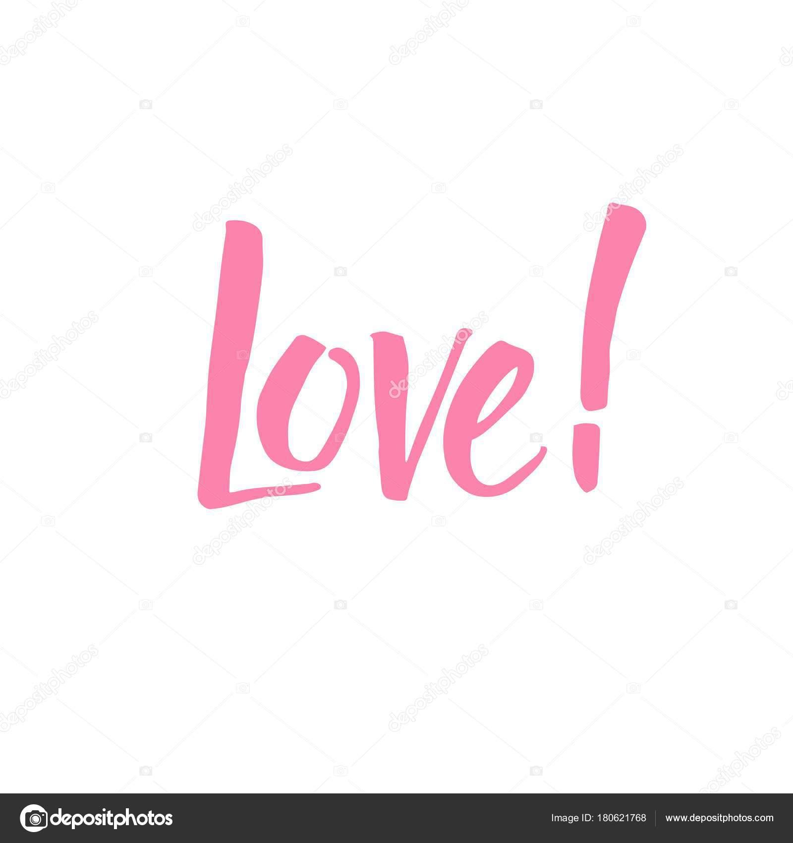 Amor Mano Escrita Frase Caligráfico Para Diseños San