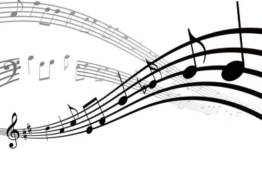 Dynamic musical notes