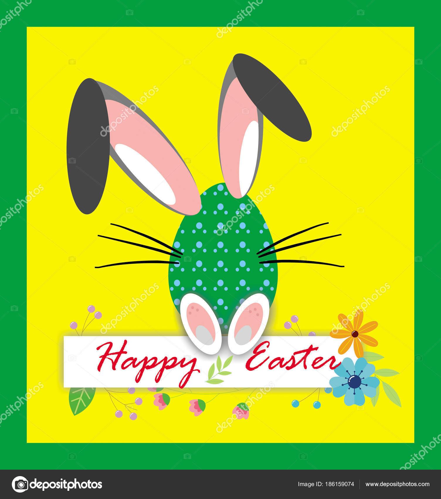 Gelbe Karte Lustig.Frohe Ostern Lustige Eiern Clipart Karte Auf Dem Gelben Hintergrund