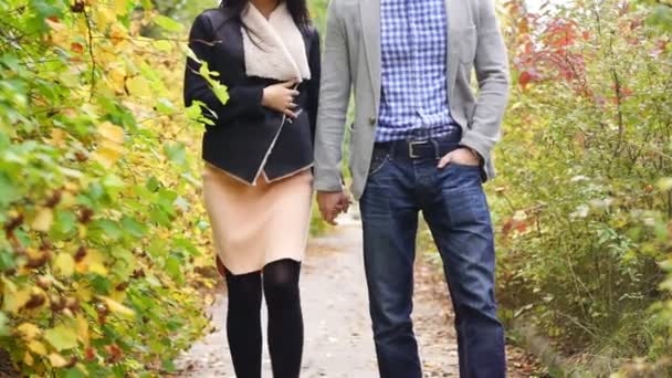 Couple holding hands and walking together