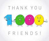 Köszönjük, hogy 2000 követői kártya.