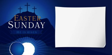 Easter sunday holy week poster