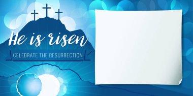 Hi is risen holy week poster