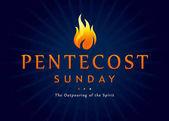 Svatodušní neděle fire nápis