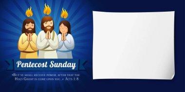 Pentecost sunday banner navy blue