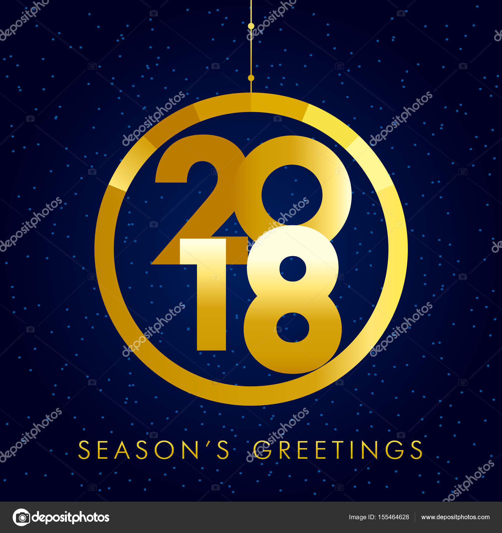 2018 seasons greetings gold happy new year card stock vector 2018 seasons greetings gold happy new year card stock vector m4hsunfo