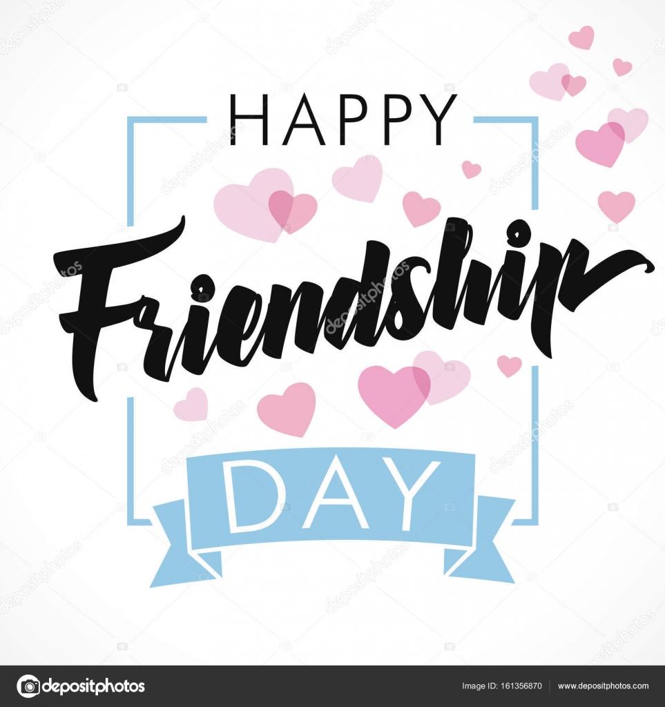 Happy Friendship Day Greeting Card Stock Vector Koltukovalek