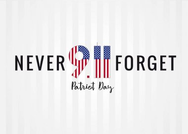 Never forget 9/11 Partiot day USA poster