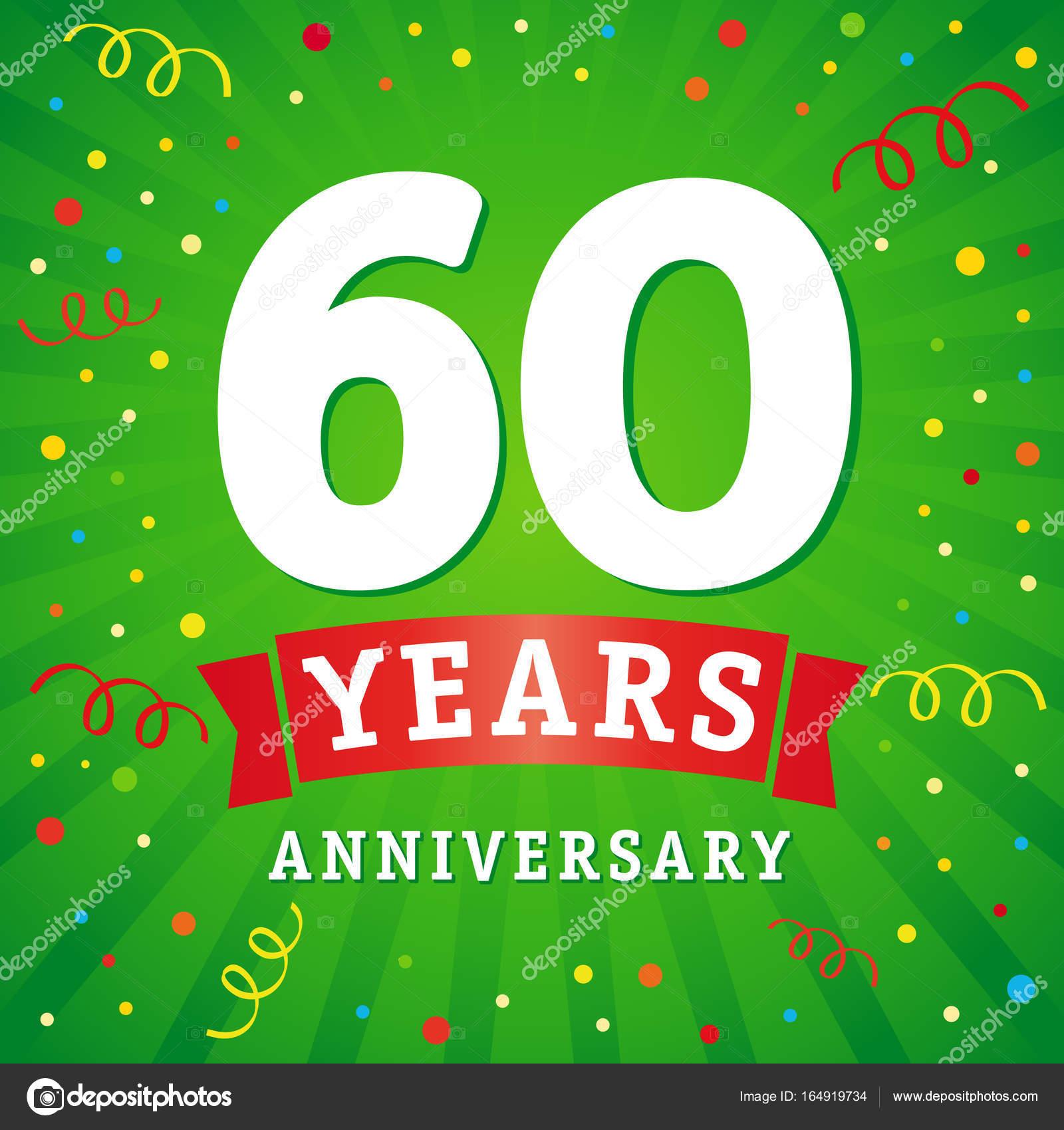 60 Jaar Verjaardag Logo Viering Kaart Stockvector C Koltukov Alek