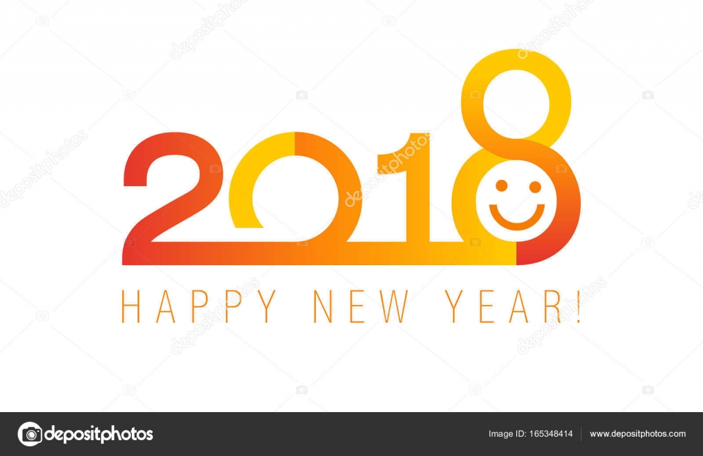 2018 red classic new year banner stock vector