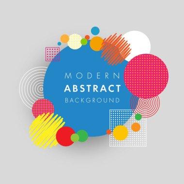 Abstract circle geometric colored futuristic design