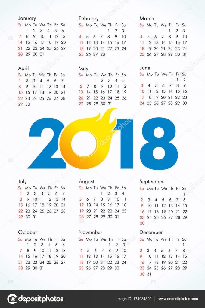 whole year calander