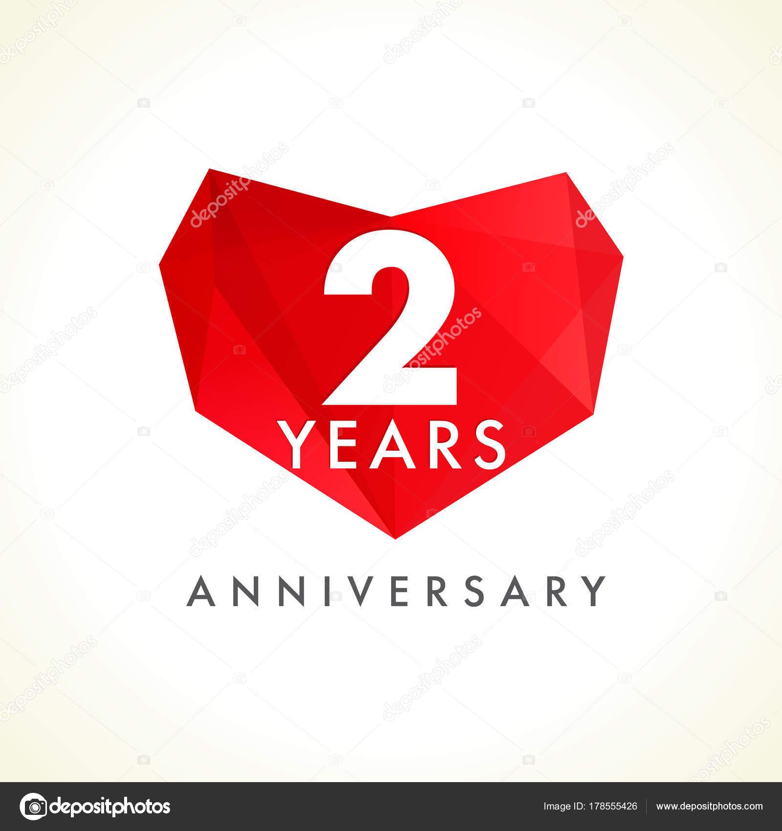 Jahre Jubiläum Herz Logo Vorlage Emblem Der Jahr Feier Herzform