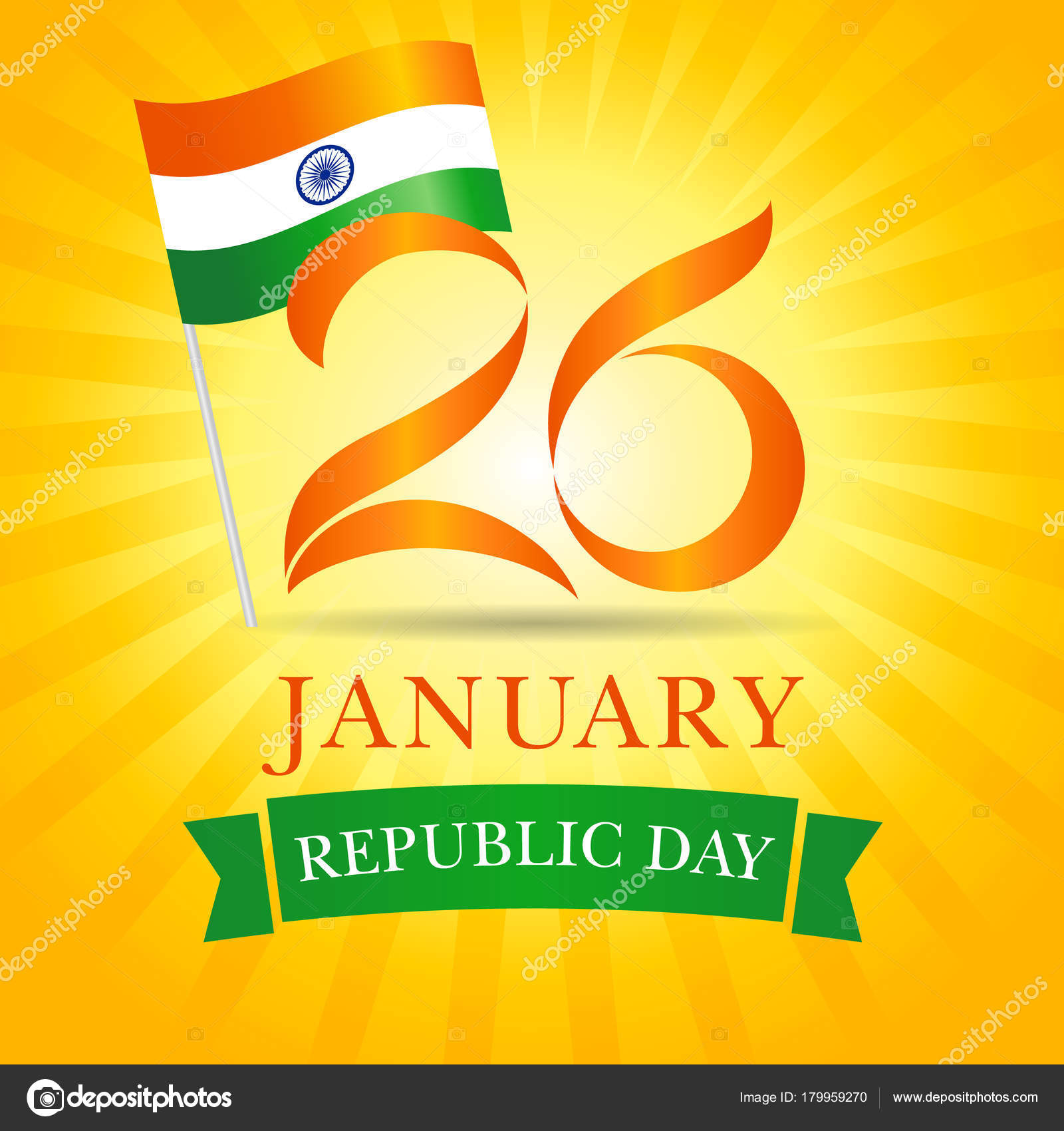 January happy republic day idia greeting card vector illustration 26 january happy republic day idia greeting card vector illustration for 26th january republic day idia lettering banner with national flag and text on m4hsunfo