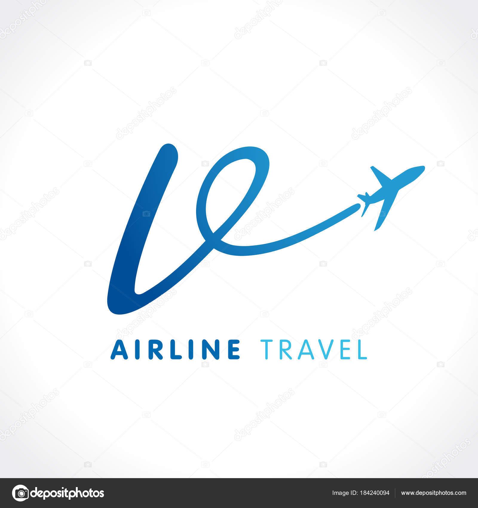 Letter Transport Travel Company Logo Airline Business Travel