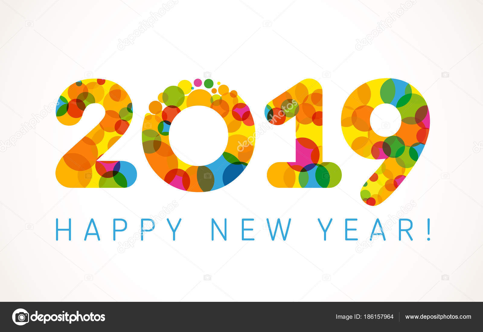 2019 happy new year greetings holidays colored background bubbles 2019 a happy new year greetings holidays colored background bubbles shape pattern funny isolated digits isolated numbers template voltagebd Images