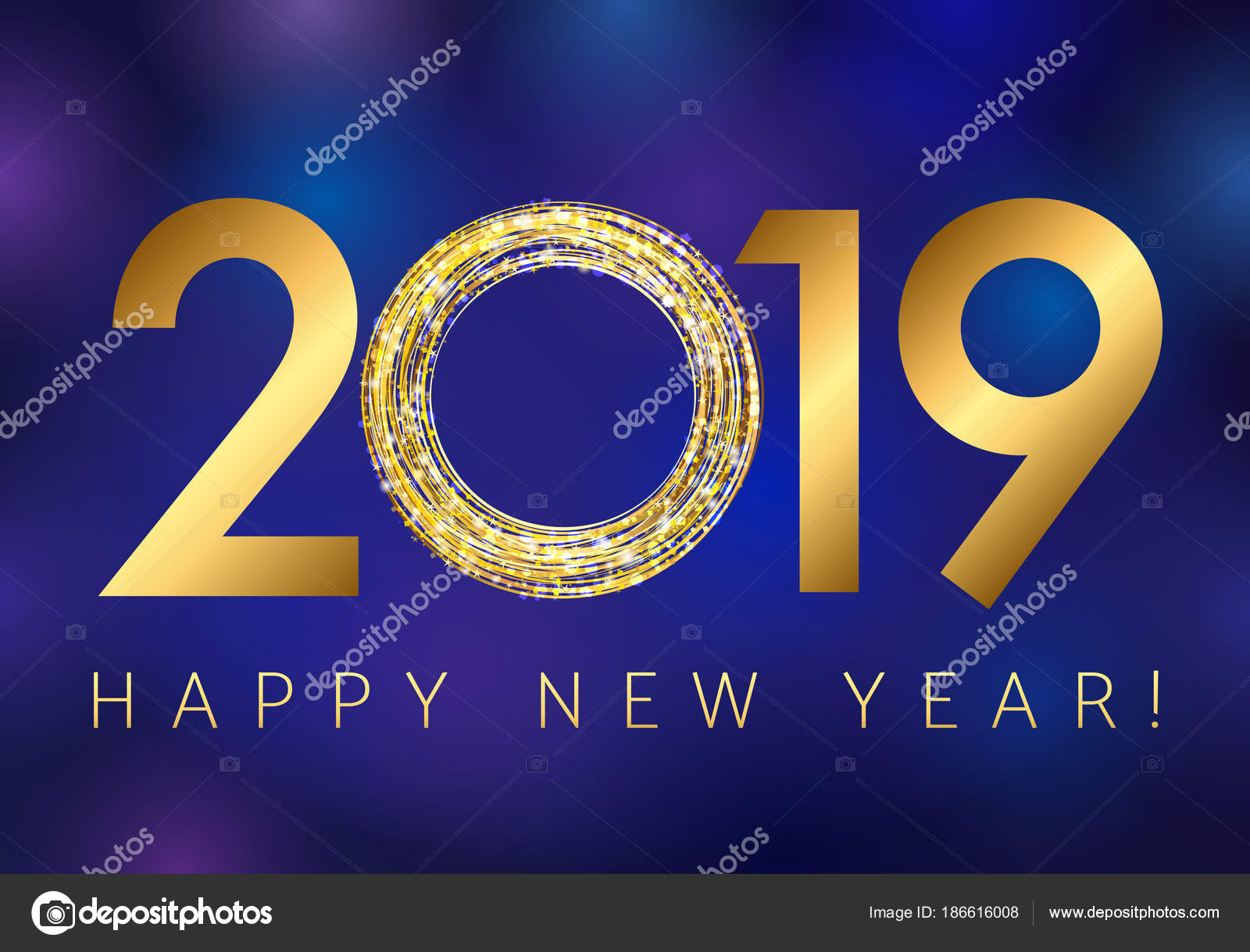 2019 happy new year greetings dark blue background golden glitter 2019 happy new year greetings dark blue background golden glitter stock vector kristyandbryce Gallery