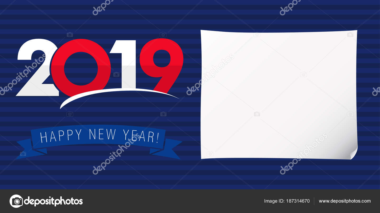 2019 a happy new year xmas greetings dark blue background classic isolated colored numbers seasonal ad with digits percent off discount with white