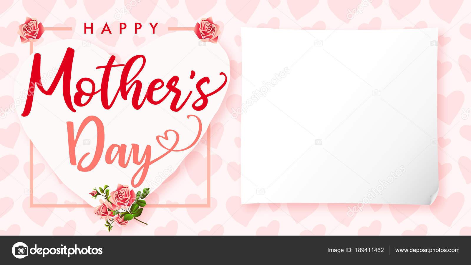 Vector Tarjetas De Dia Madre Feliz Que Día Madre Levantó