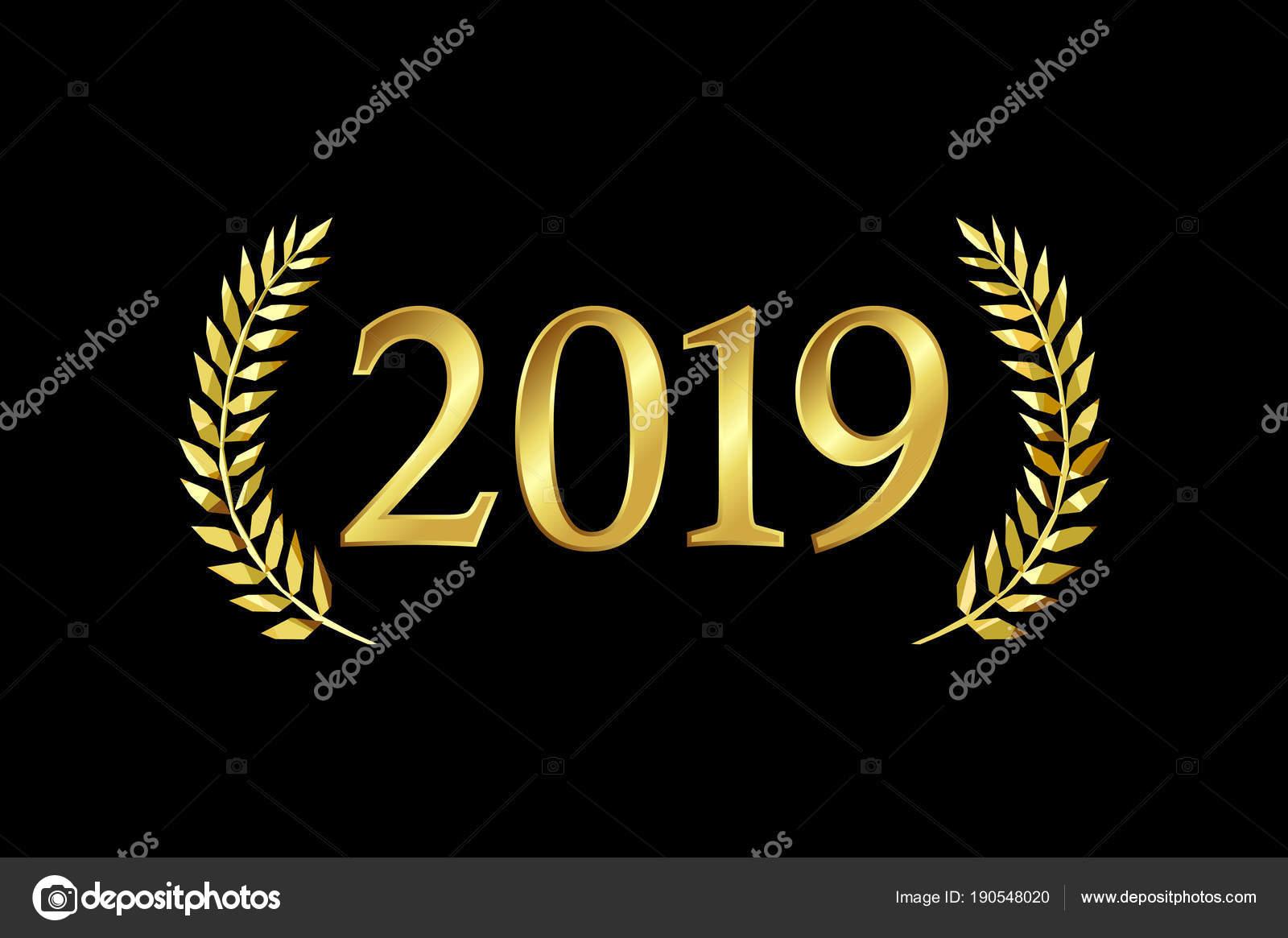 2019 Happy New Year Merry Xmas Greetings Palms Framed