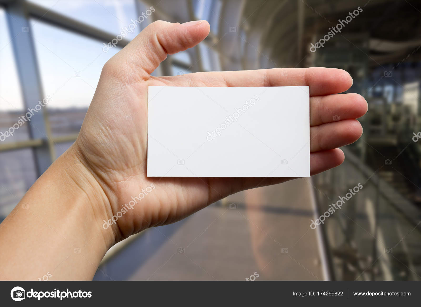 Copy Blurred Present Ticket 174299822 Gift Pass Visit Card For Vim White Id Showing A Text Photo Business Close © Hands — Stock Blue Up On Space Holding Ad Background