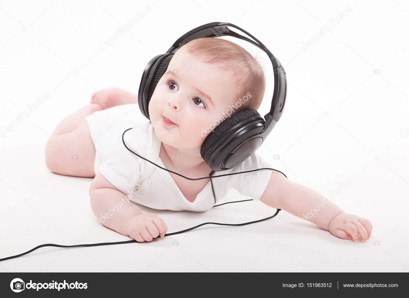 cute baby boy in headphones — stock photo © fotoevent.stock #151963512