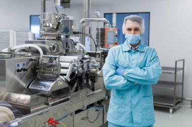 scientist working in plant laboratory