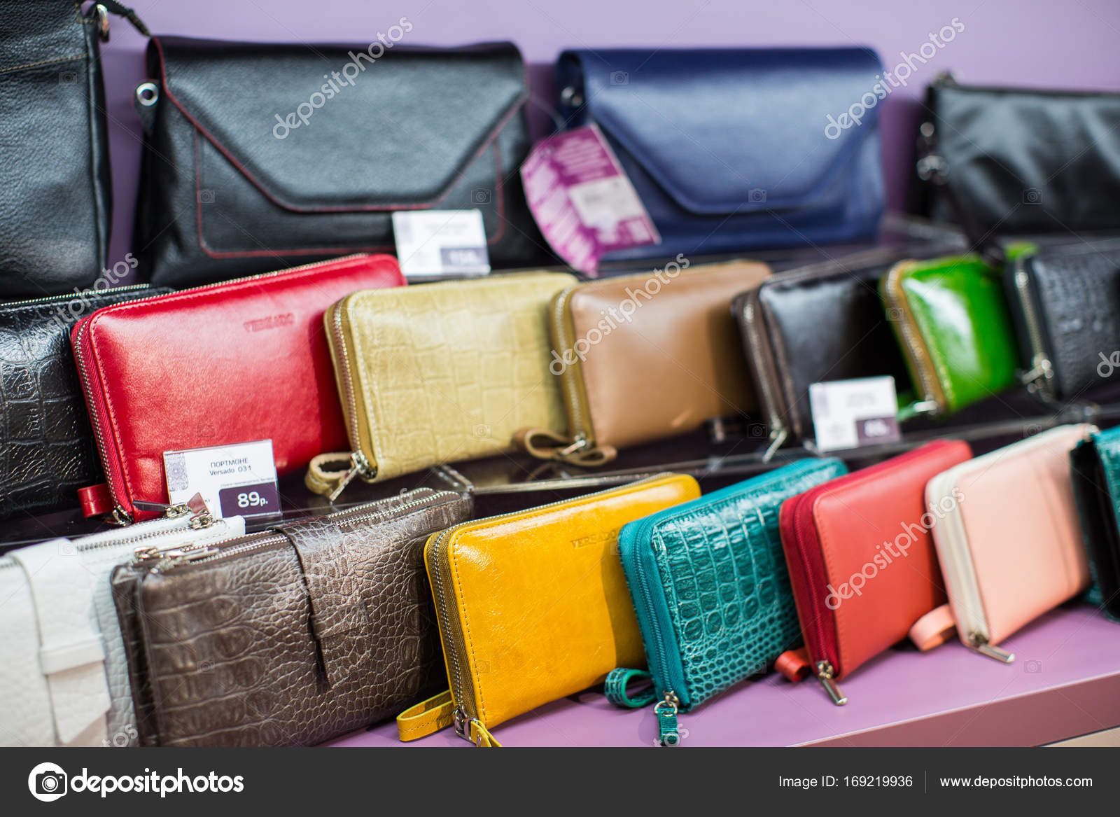 77f15cb6 Leather bags and accessories on sale – Stock Editorial Photo ...