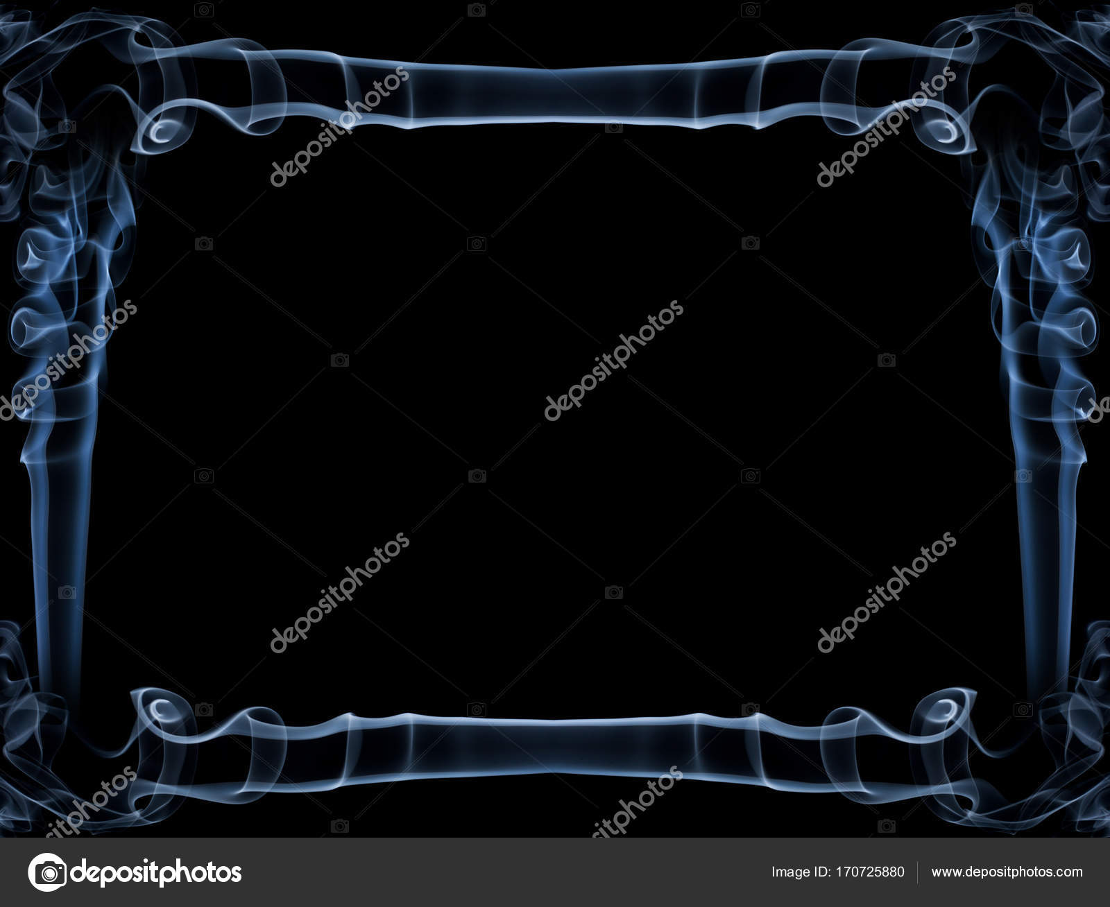 Blue Smoke Frame Stock Photo C Igordabari 170725880