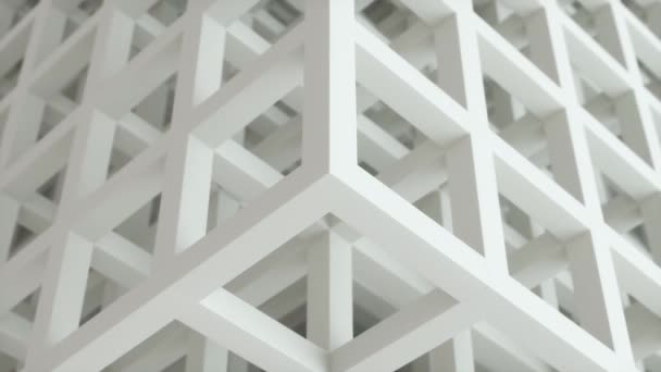 4k White Grey Cubes Business Background. Video Animation Loop.  Abstract architecture Beautiful seamless cubic puzzle motion.