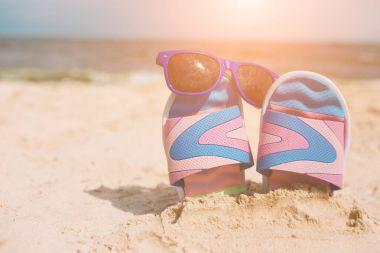 Flip-flops. Summer vacation concept