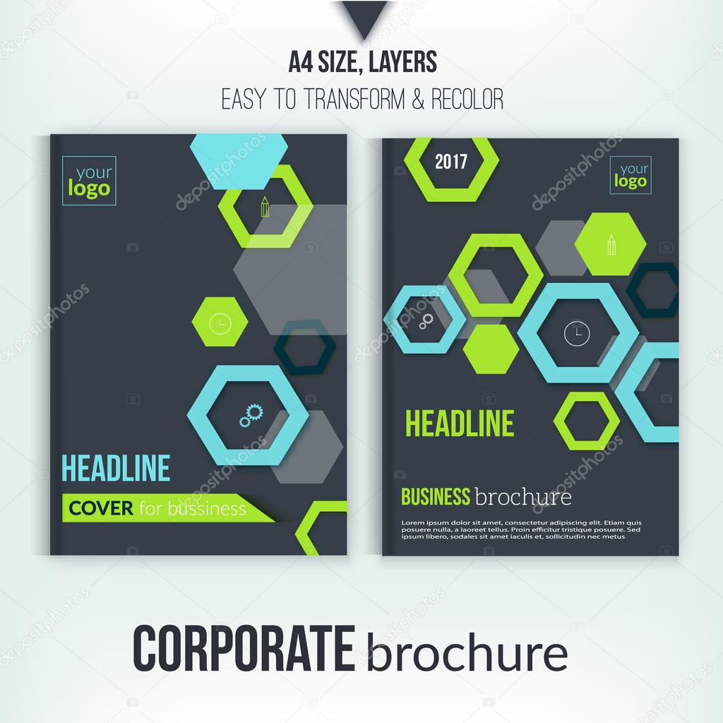 brochure cover design template geometric abstract shape flyer on