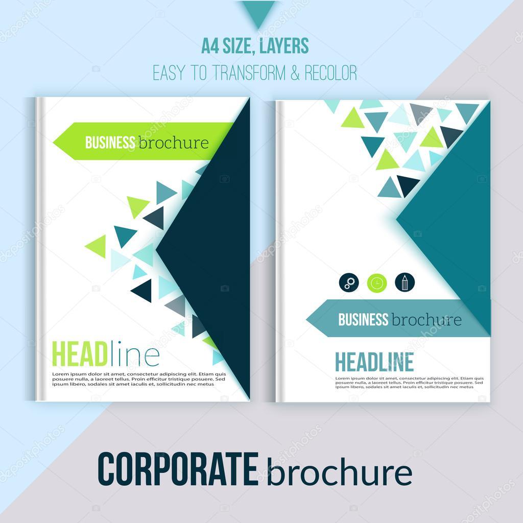 clean brochure design annual report cover template magazine