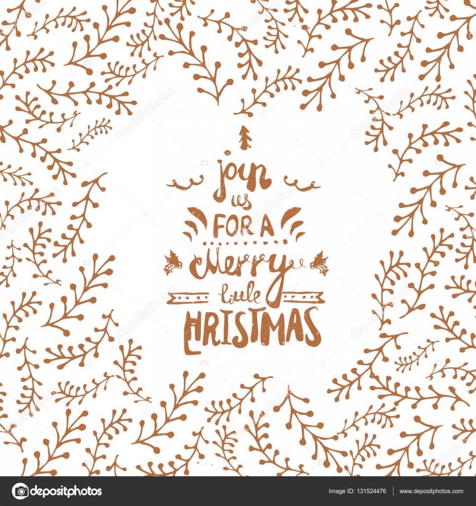 Join us for a Merry Christmas Lettering Design in retro style with ...